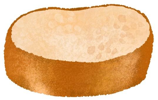 Illustration of cut baguette