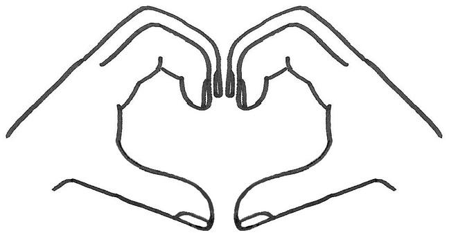 Heart in hand love