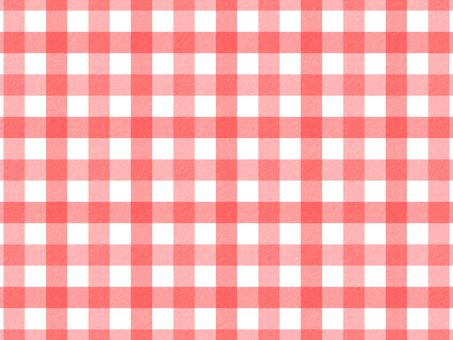 Gingham check (red / vertical)