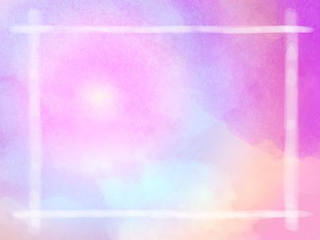 幀粉紅色的水彩