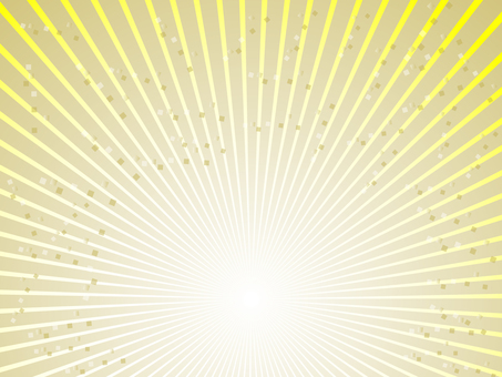 Radial line (gold × yellow)
