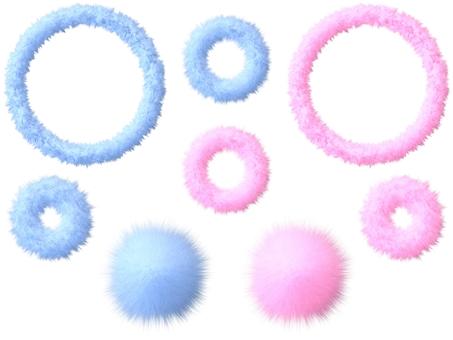 Fluffy mokomoko material