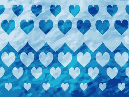 하트 배경 (파란색)