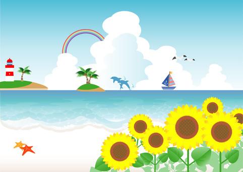 Fancy sunflower beach 01