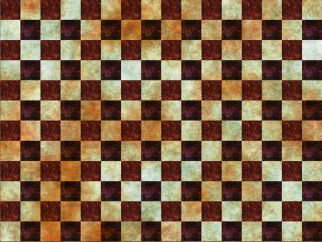 Checkered wallpaper brown texture