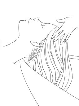 Head spa line drawing
