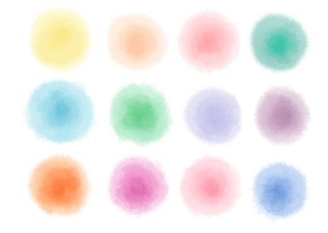 Watercolor circle icon