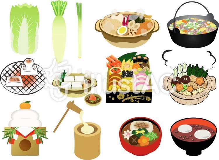 冬の食べ物イラストセットイラスト No 1253975無料イラストなら