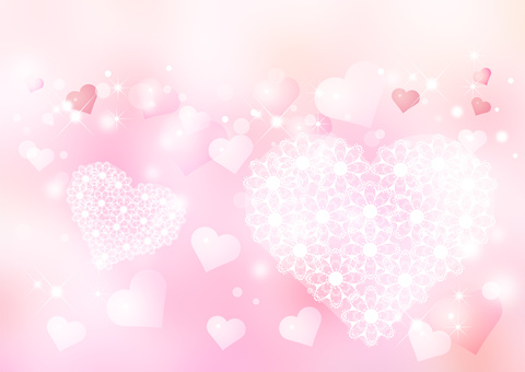 Heart _ pink background