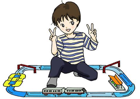 Train play - in the rail
