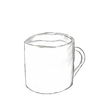 커피 컵 [흑백]