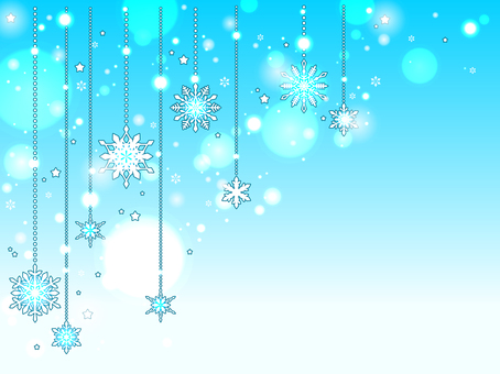 Snow ornament background
