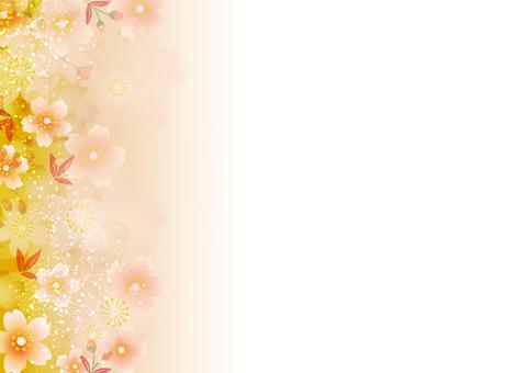 春に使えるかもしれない和風素材 桜の背景