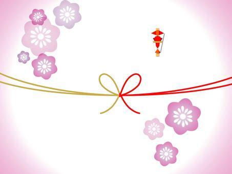Plain paper (plum) flower knot