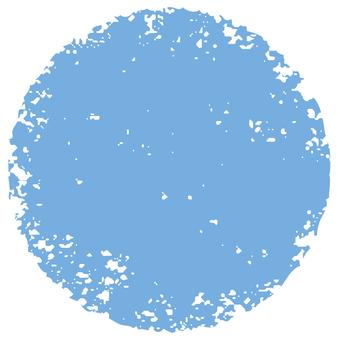 Stamp circle _ blue _ cs