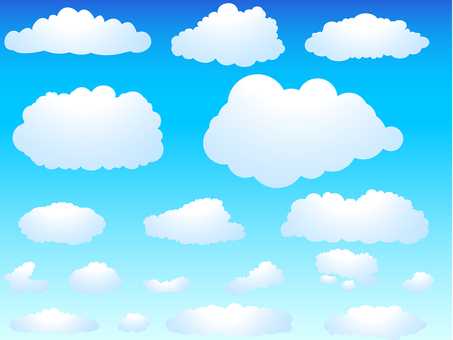 ai 간단한 구름 세트