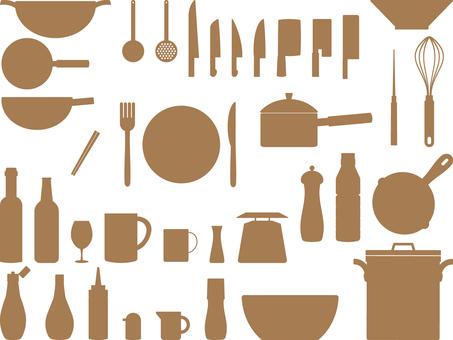 Kitchenware silhouette