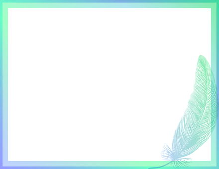 Feather _ background _ green