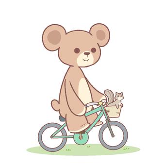 クマと自転車