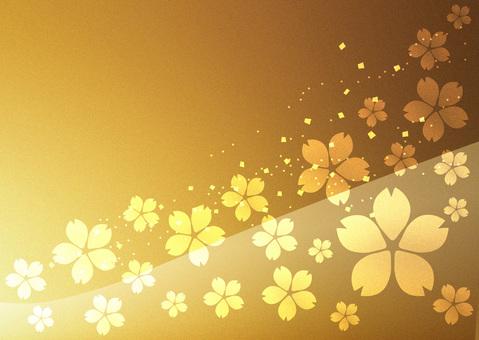 Sakura _ gold leaf