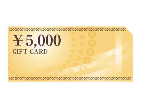 Cash voucher 5000 yen