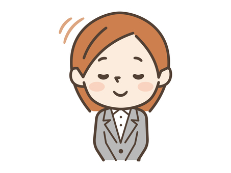Woman suit bow