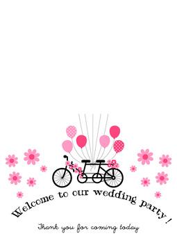 歡迎板婚禮