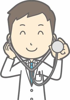 Young doctor - stethoscope - bust