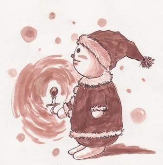 Bear and Christmas night