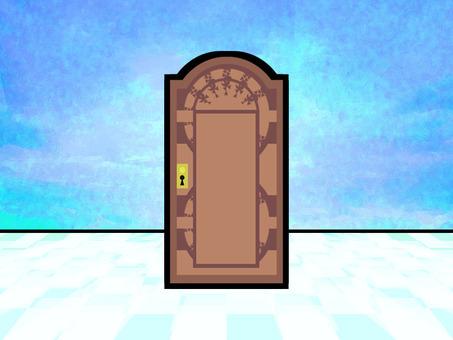 이상한 푸른 공간의 문