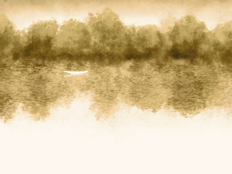 Watercolor-style background material 01 / sepia