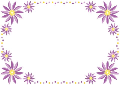 Frame - Tropical Flower Purple