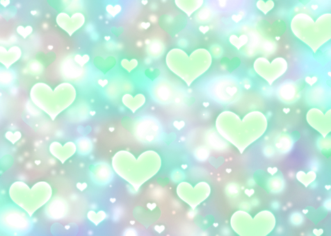 Translucent heart x dull color wallpaper green