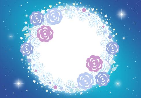 Frame Flower Glittering Lace