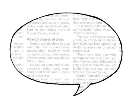 Speech balloon 01-01 _ English newspaper