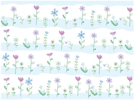 Flower field blue