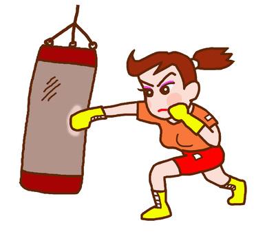 Women who do boxing