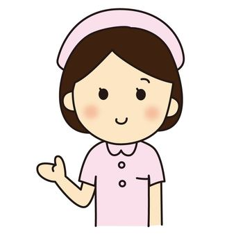 Nurse who shows with a smile