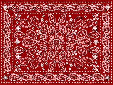 Paisley pattern red