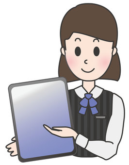 Office Lady-Explained on Tablet