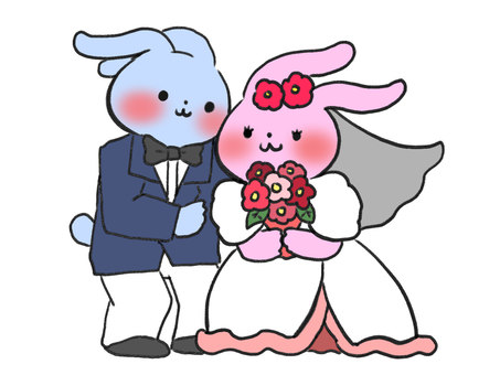 Rabbit giving a wedding