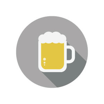 """Flat icon """"Japanese summer"""" beer"""