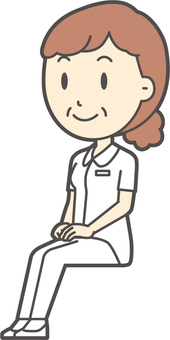中年婦女護理白大衣-202全身