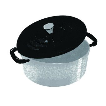 Hand-drawn pan