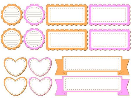 Simple frame, label