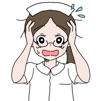 Glasses nurse woman (impatience)