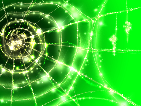 Sparkling spider web (green)