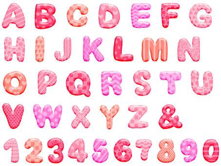 Round alphabet pink