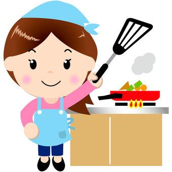 Apron women (cooking)