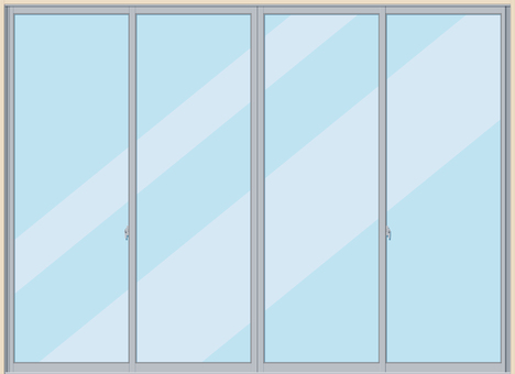 Glass window frame sash sweep window
